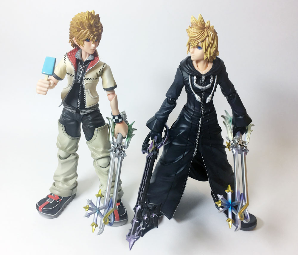 kingdom hearts play arts kai organization xiii roxas faves in